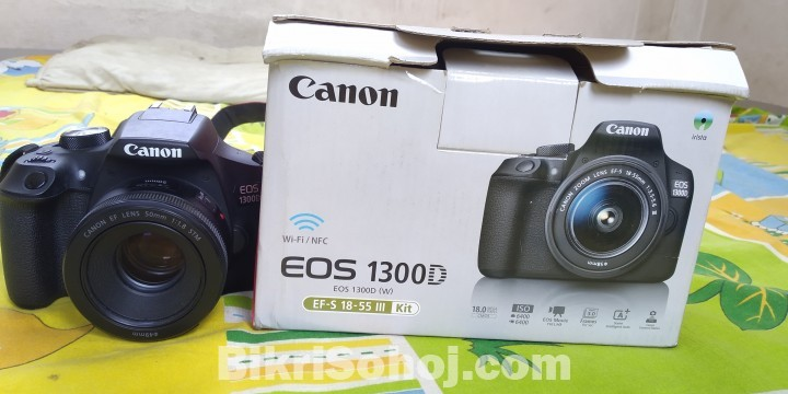 Canon 1300d With Prime
