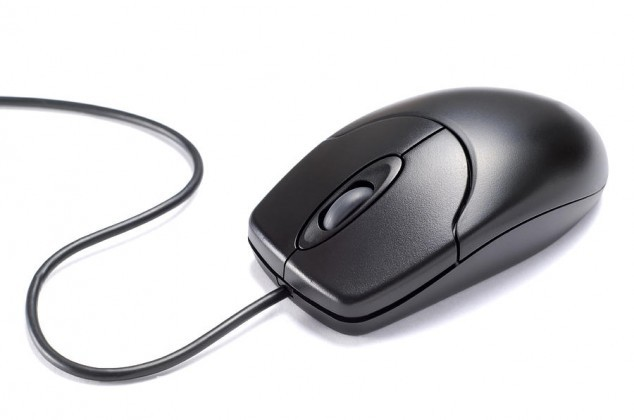 Black Isolated Computer Mouse