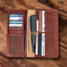 SSB GENUINE LEATHER LONG LEATHER WALLET BIFOLD WALLET BAG