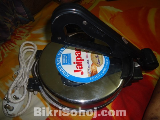 Jaipan Jumbo Roti Maker - 1000W Silver and White New