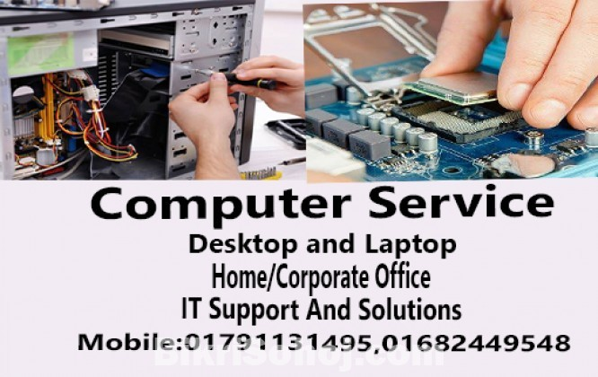 Computer service provided at Home/Corporate Office
